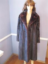 CLASSIC Emilio Gucci MINK fur coat dark reddish brown Small EXCELLENT! jacket