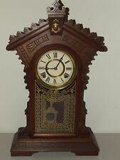 Antique Restored 1885 E.N. Welch Victorian Walnut Eastlake Regulator Shelf Clock