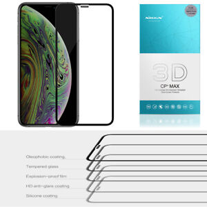 For iPhone 11 PRO XS Max XR 8 NILLKIN 3D CP+ MAX Tempered Glass Screen Protector