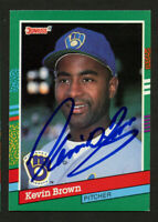 Kevin Brown #674 signed autograph auto 1991 Donruss Baseball Trading Card