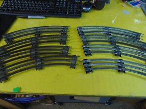 Lionel O gauge curved track  31R, with ALL pins, 8 pieces, used, C-5/, OK Circle
