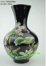 Chinese jingdezhen porcelain handwork painted lotus unique big vase c02