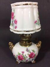 Vintage Porcelain Miniature Small Oil Kerosene Lamp