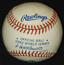 1989 - WORLD SERIES - OFFICIAL BALL by RAWLINGS - A.BARTLETT GIAMATTI - ORIGINAL