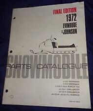 BS725 1972 Evinrude & Johnson Snowmobile Parts Catalog PN 406026 Final Edition