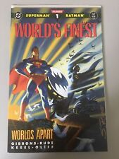 World's Finest (1990) Worlds Apart #1 Signed by Steve Rude NM Near Mint