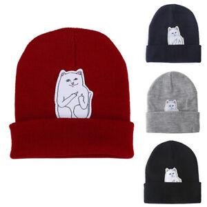 Women Cap Knitted Cat Hat Hip Hop Skullies Beanies Men Street Cap Unisex