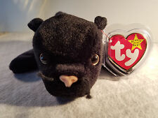 New Rare 1995 Velvet Retired TY Pellets PVC Beanie Baby Black Panther Tag Errors