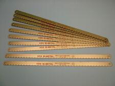 Lames de scie à métaux paquet de 10 bi-métal incassable 300mm,