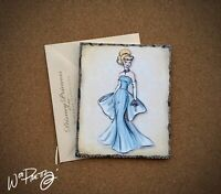 2011 Disney Designer Doll Princess Note Card CINDERELLA - Steve Thompson Art