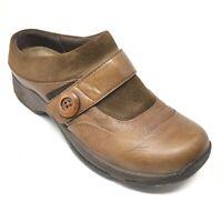 Women's Dansko Kaya Mules Clogs Shoes Size 39 EU/8.5-9 US Brown Leather AG15