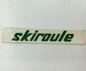 """SKIROULE VINTAGE SNOWMOBILE LOGO STICKER DECAL 4 1/2"""" X 3/4"""" NOS"""