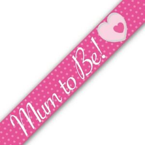 Baby Shower Party Mum to Be Baby Girl Banner Pink Gender Reveal Decorations