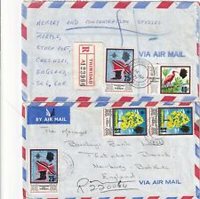 More details for p4452 trinidad + tobago 12 diff multi-stamped covers mainly air uk;  190s onward