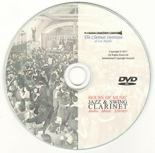 Jazz and Swing Clarinet MP3 Archive DVD