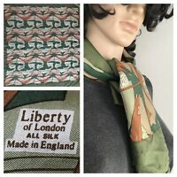 scarf liberty of london silk made in england vtg paisley cachemire floral