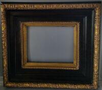 Pierre Hand Crafted picture Wood Frame Mottled Dark Gold-Leaf W/Light Gold Liner
