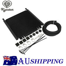 Aluminum Oil Cooler Kit 25 Row 8000 Type Plate and Fin Engine Transmission Black