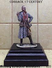 Cossack 17century, Tin toy soldier 120mm, figurine, metal sculpture HAND PAINTED