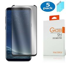 5x For Samsung Galaxy S8 Plus [CASE FRIENDLY] Full Cover Glass Screen Protector