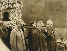Soviet leaders carry Komarov's urn, 1967 Vintage silver print,Vladimir Mi