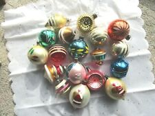 New ListingVintage Antique Indents Christmas Ornaments Shiny Brite Poland Japan?