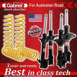 4 x Raised Gabriel Shock + Coil Spring for Subaru Forester SG9 4WD Wagon 02-2/08