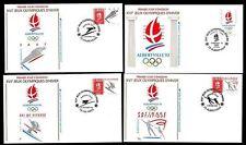 Frankreich FDC Olympische Winterspiele in Albertville Einzelmarken komplett