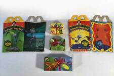 McDonalds 1998 Disney A Bugs Life Complete Set 3 OTC Toys Keychains With 2 Boxes