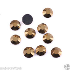 2000pcs Metallic Gold 4mm ss16 Flat Back Resin Rhinestones Embellishments C57