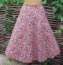 Vintage 50's Style Full Skirt - Liberty Fabric Floral Print Cotton Size UK 10/12