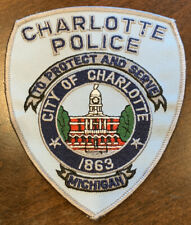 MICHIGAN - Charlotte Police patch