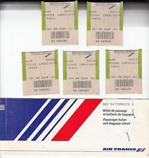 AIR FRANCE PASSENGER TICKET COVER & 5 BAGAGES STICKER OF BRITISH   AIRWAYS RARE