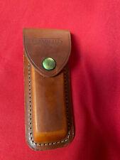 CAMILLUS #4 Brown Genuine Leather Sheath