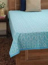 Ikat Beautiful Hand Block Printed fabric 100% Cotton Bed Cover