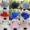 Bridal Tea Party Wedding Hats Women's Organza Church Kentucky Derby Fascinator