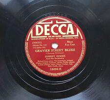 78obrotów Johnny Dodds - Gravier Street Blues / Red Onion Blues Decca 18094