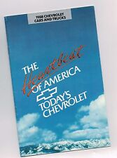 1988 Chevy FULL LINE Brochure / Catalog : TRUCKS,CAMARO,CORVETTE,S-10,PickUp,Z24