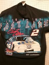 Rusty Wallace No. 2 LIFE IN THE FAST LANE TEE Miller Brewing  Size Large  Y40