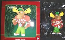 Carlton Ornament Coach Of The Year New In Box Moose Coach with Clipboard Whistle