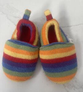 JoJo Maman Bebe Stripe Slippers Toddler 18- 24 Months