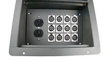 Elite Core Stage Recessed Floor Box w/12 XLR Female Mic Connectors & AC Outlet
