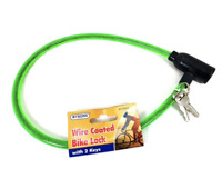 Bike Cable lock 2 Key Bicycle Cycle Lock Steel Extra Strong Security Padlock