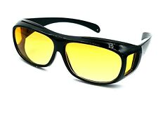 HD Vision WrapArounds Sunglasses Night Vision Driving Glasses Aviator Yellow