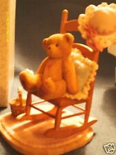 Cherished Teddies 2001 Celia girl w/rocking chair, you can always call my heart