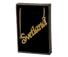 Name Necklace Svetlana – 18K Gold Plated | Valentines Wedding Unique Pendant