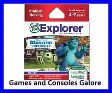 NEW Leap Pad 1 & 2, Leapster Explorer GS LeapPad Game Monsters University Inc