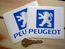 "PEUGEOT LOGO Stickers 4"" Pair Lion Rally Sport 106 107 205 206 207 307 407 GTi"