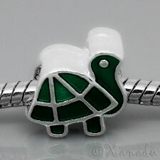 Green Turtle European Bead For European Charm Bracelet And Necklace Chains