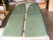 1955 CHEVROLET 2 DOOR SEDAN  6 PC. SIDE GLASS SET COMPLETE [ green tint ]
